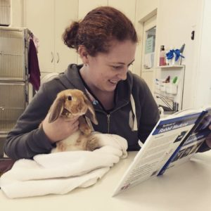 Dr Tegan Stephens rabbit vet