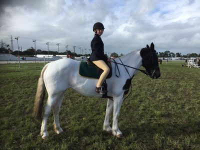 small animal vet dr teresa priddle took picture of daughter emily on cookie the horse