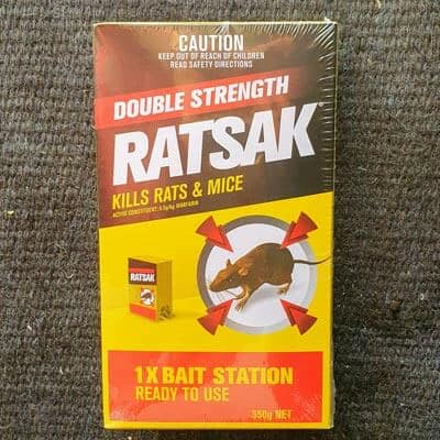 box of ratsak rat bait poison
